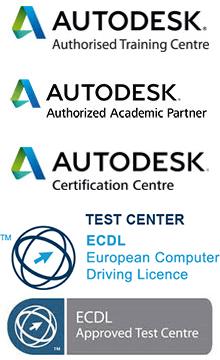 Autodesk Certiport ICMQ Logos